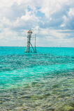 Observation tower in the tropical ocean royalty free stock photo