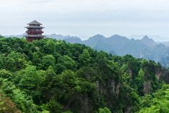 Observation Tower in in Zhangjiajie, China Royalty Free Stock Images