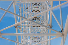 Observation wheel construction Royalty Free Stock Images