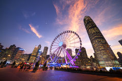 Observation Wheel, Hong Kong. China royalty free stock photo