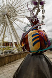 Observation wheel in Liverpool Stock Images