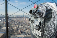 Observationsdäck på Empire State Building Arkivbild