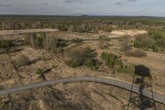 Observationstorn nära den Bela fröskidaBezdezem staden Arkivbilder