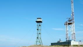 Observationstornet står bredvid radar lager videofilmer
