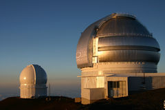 Observatoire 26 sur Mauna Kea Hawaï Photo libre de droits