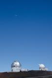 Observatoire astronomique sur le kea de mauna photos stock