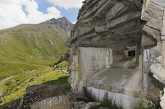 Observatoire - batterie B1 - Vallo Alpino - WW2 Image libre de droits