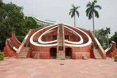 Observatoire d'astronomie de Jantar Mantar à New Delhi photographie stock