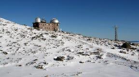 Observatoire dans haut Tatras - l'hiver Photos stock