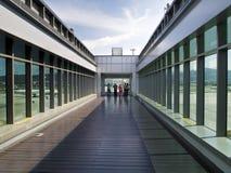Observatoire dans l'aéroport de Taïpeh Songshan Photographie stock