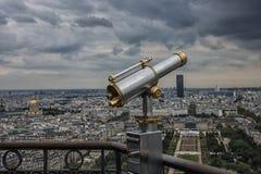 Observatoire dans Tour Eiffel, Paris Photo stock