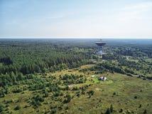 Observatoire de radioastronomie de Kalyazin Radiotélescope de Lovell Institut de recherche  Kalyazin, région de Tver, Russie images stock