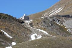 Observatoire de Rome en parc italien de Sasso de mamie Photos stock