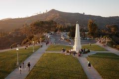Observatoire de stationnement de Griffith Image libre de droits
