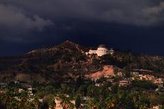 Observatoire et Hollywood Hills de Hollywood Photographie stock libre de droits