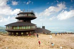 Observatoire météorologique de Sniezka Photo stock