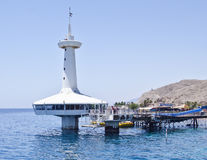 Observatoire marin sous-marin près d'Eilat, Israël Photos stock