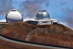 Observatoires de Mauna Kea, grande île, Hawaï photos stock