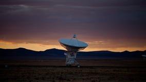Observatoires très grands du plat VLA de radio de l'espace de rangée - laps de temps - 4k banque de vidéos