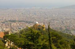 Observatori Fabra Royaltyfri Fotografi