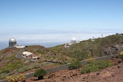 Observatories For Observing The Stars And Planets, La Palma, Spain Stock Photo