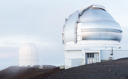 Observatories on Mauna Kea Hawaii Royalty Free Stock Photos
