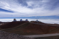 Observatories on Mauna Kea, Hi Royalty Free Stock Images