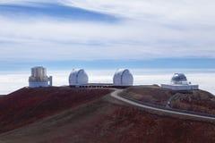 Observatories on Mauna kea summit Stock Photo