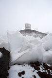 Observatories and snow Royalty Free Stock Image