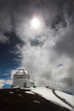Observatories and snow Stock Images