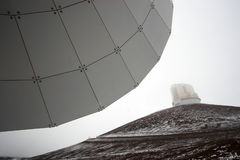 Observatories and snow Stock Photo