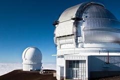 Observatories on the summit of Mauna Kea, Hawaii Royalty Free Stock Photography