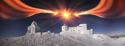 Observatorio antiguo de Cárpatos Fotografía de archivo
