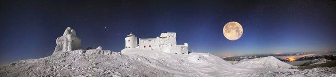 Observatorio antiguo de Cárpatos Imágenes de archivo libres de regalías