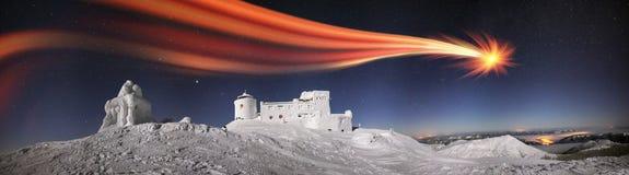 Observatorio antiguo de Cárpatos Foto de archivo