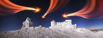 Observatorio antiguo de Cárpatos Foto de archivo libre de regalías