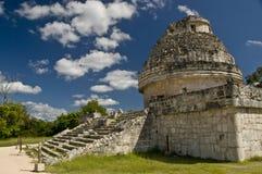 Observatorio Chichen Itza Mex Imagen de archivo libre de regalías