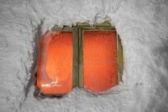 Observatorio congelado de la ventana Foto de archivo