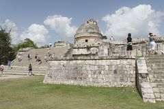 Observatorio de Chichen Itza Imagenes de archivo