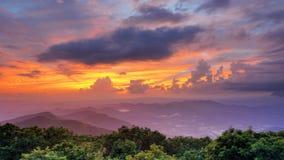 Observatorio de la cima de la montaña Imagen de archivo