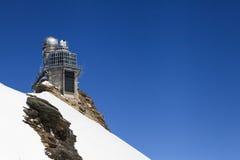 Observatorio de la mucha altitud de la esfinge en el paso de Jungfraujoch en Switzer Fotos de archivo