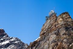 Observatorio de la mucha altitud de la esfinge en el paso de Jungfraujoch en Switzer Fotografía de archivo libre de regalías