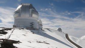 Observatorio de la nieve Imagenes de archivo