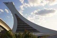 Observatorio de la torre del parque olímpico en Montreal imagenes de archivo