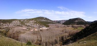 Observatorio del castillo de Ucero Fotos de archivo libres de regalías