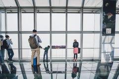 Observatorio del edificio del centro financiero de mundo de Shangai Fotografía de archivo libre de regalías