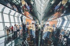 Observatorio del edificio del centro financiero de mundo de Shangai Imagen de archivo libre de regalías