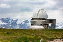 Observatorio del montaje-Turgen en Kazajistán Fotos de archivo