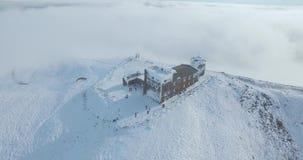 Observatorio en el top de una montaña almacen de video