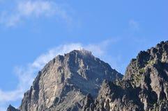 Observatorio en la cima del pico de Lomnicky Fotografía de archivo